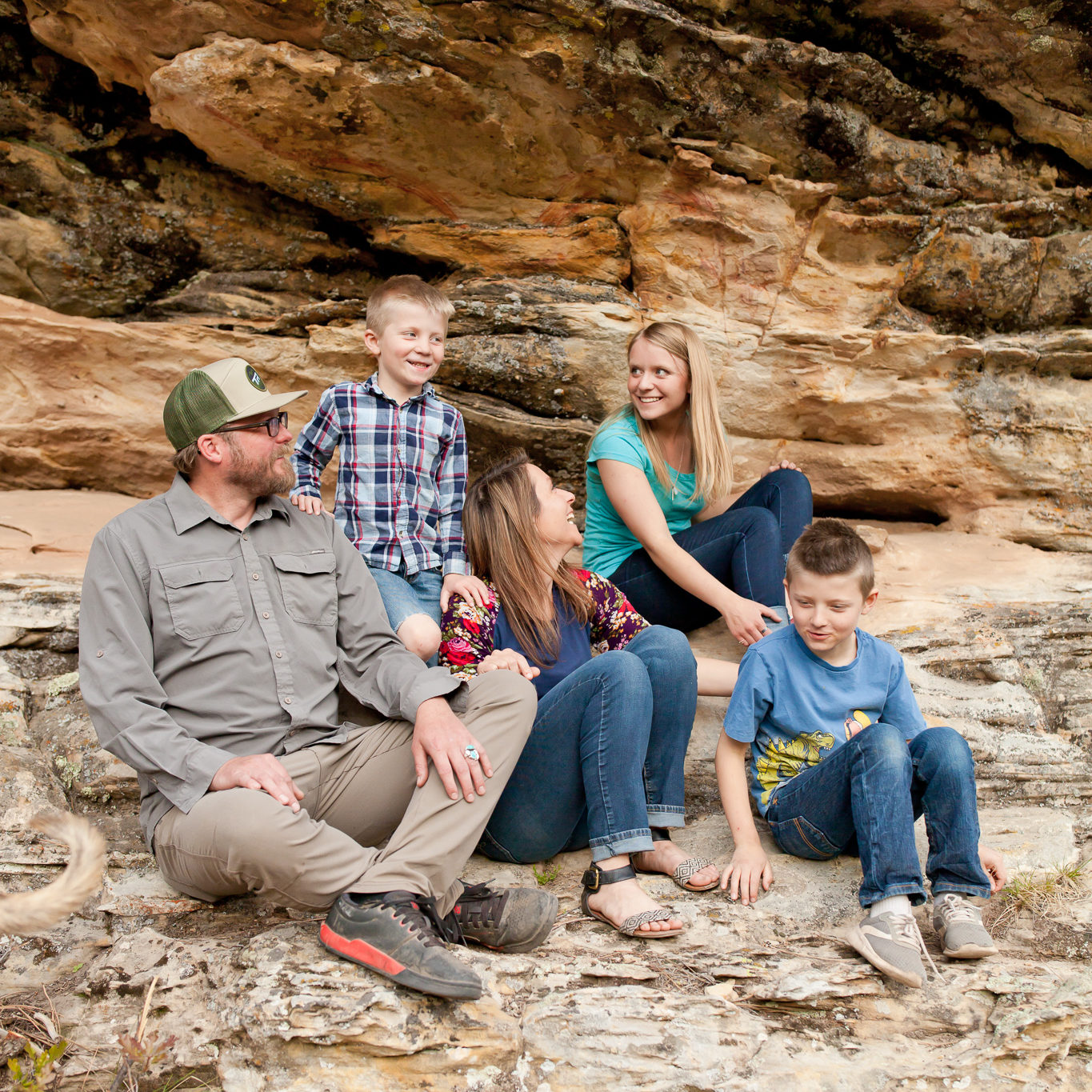 Copy of family in rock couch